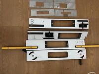 Hinge and lock jig for doors