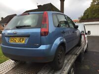 Ford Fiesta 1.4tdci starts n drives long mot&tax(spares or repairs