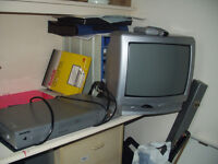 old model tv. perfect working order. colour. with dvd. both work fine.