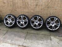 """ACE Alloys 18"""" set of 4 with tyres and bolts"""