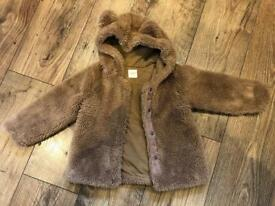 NEXT teddy bear coat 2-3years