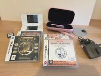 Nintendo DS Lite, games and case