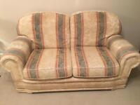 Cheap Sofa, x 2 single seaters and foot stall