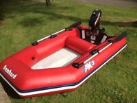 Bombard air deck with keel Inflatable dingy and Mercury 3.3hp outboard motor