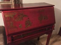 Chinese furniture in red