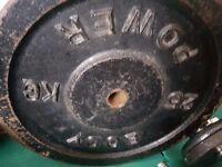 2x25kg metal weight plates 50kg