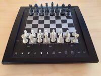 Saitek electronic chess set touch sensitive board, portable.