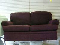 2 Seater Sofa Settee in Purple Fabric from Marks & Spencers. As New Condition