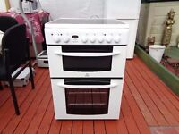 INDESIT CERAMIC ELECTRIC COOKER 60 CM DOUBLE OVEN LIKE NEW