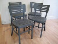Stylish Set of 4 Modern Solid Wood Kitchen / Dining Chairs - Very good condition