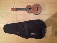 Stagg UC80-SE Solid Mahogany Electro Acoustic Concert Ukulele and Bag