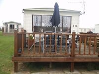 8 berth 3 bed caravan,ingoldmells,skegness,DOG FRIENDLY,1-8 april £200 quiet site