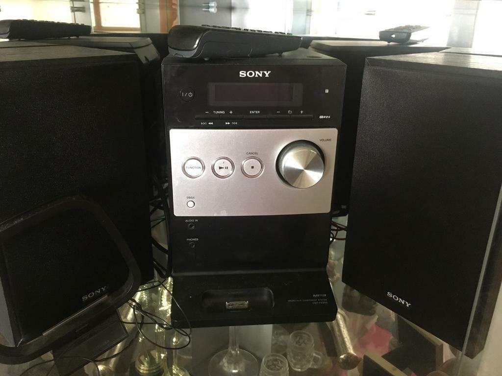 Sony stereo cd player radio and iPod docking stationin Ramsgate, Kent - Good working order. Sony stereo cd player radio and iPod docking station . Posted by gemma in Stereos & Accessories, Stereo Systems (whole) in Ramsgate. 24 June 2018