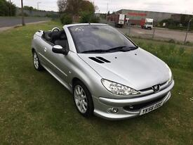 56 REG PEUGEOT 206 CC 1.6 HDi ALLURE 2DR-LONG MOT-GREAT LOOKING CAR-READY FOR THE SUMMER