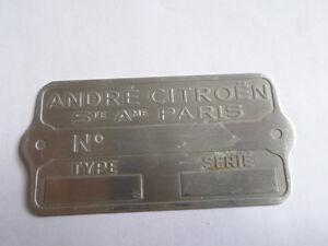 Andre Typenschild Citroen Schild ID-plate 11 15 CV HY s14