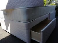 Three quarter 4ft divan bed with 2 drawers