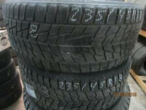 235/45R18 2 ONLY USED BRIDGESTONE BLIZAK WINTER TIRES
