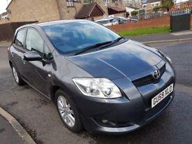 Toyota auris 1.6manuel petrol 59 reg 2009 stop start metalic dark grey