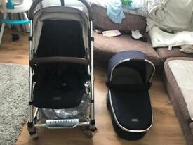 Mamas and Papas carrycot and pushchair