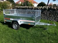 NEW Car trailer 7.7 x 4.1 with mesh £870 inc vat