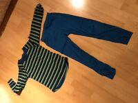 Childrens Thermals Age 5 / 6 Blue and Green