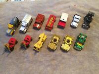 JOB LOT OF MODEL CARS, MATCHBOX, LLEDO, CORGI, LESNEY.....