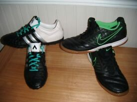 2 PAIRS NIKE @ ADIDAS TURF TRAINERS UK SIZE 7, EURO 41, USED IN VGC