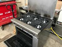 6 burner gas heavy duty cooker commercial catering kitchen equipment restaurant catering business