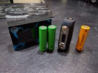 Amodus Ohmsmium (Blue) 80W TC Box Mod - PLUS 30Q AND VTC4's -
