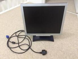 "BENQ 19"" computer monitor"