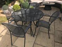 Kettler caredo steel black garden patio or conservatory furniture