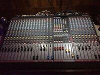 Allen and Heath GL2400 Mixing Desk including Flightcase and desk lights