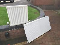 Two double Central heating radiators