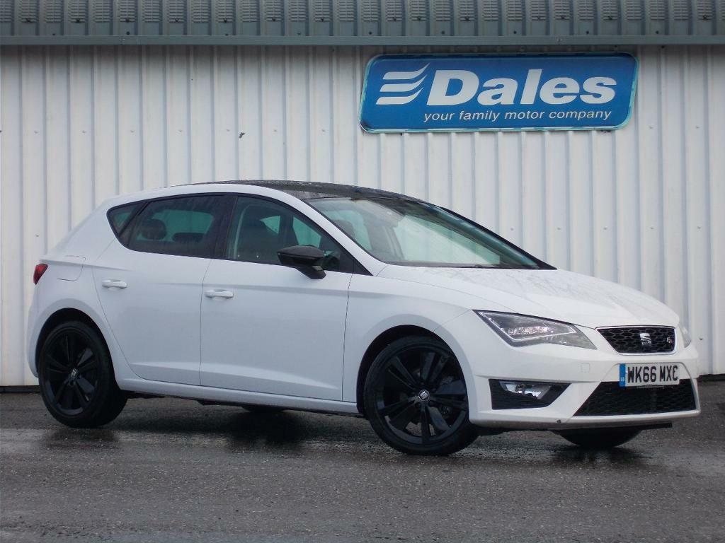 seat leon 2 0 tdi fr 5dr technology pack white 2016. Black Bedroom Furniture Sets. Home Design Ideas