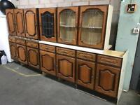 Kitchen units cabinets real wood doors Can deliver