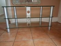3 tier glass tv stand £15
