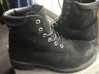 Timberland Men's black nubuck leather boots