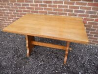 Solid Oak Testle Dining Table