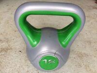 York fitness vinyl 16kg kettlebell weight