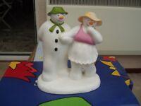 The Bashful Blush Snowman Figure