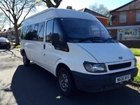 06 reg ford transit 350 LWB 15 seater minibus 2.4 diesel NO VAT