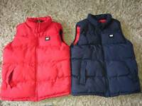 2 Caterpillar Gilets, like brand new age 10 to 12