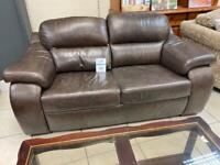 Leather Sofa in Chocolate Brown