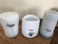 Tommee Tippee Bottle warmer , travel bottle warmer and bottle steriliser