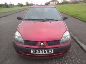 Automatic, Renault Clio, 1.4litre, MOT until 25/05/18, great wee runner.