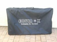 Equinox DJ Lighting Screens c/w carry case - as new, excellent condition