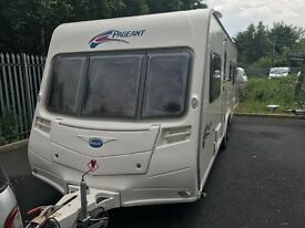 Bailey pageant 2008 6 berth fixed bed touring caravan