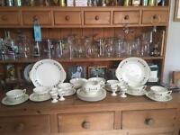 Beautiful handpainted bone china Christmas breakfast set