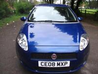 FIAT GRANDE PUNTO 1.2 Dynamic + FREE 3M WARRANTY + FINANCE AVAILABLE + CALL 01162149247 (blue) 2008