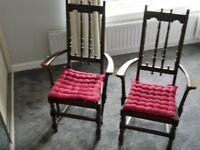 Ercol old colonial chairs
